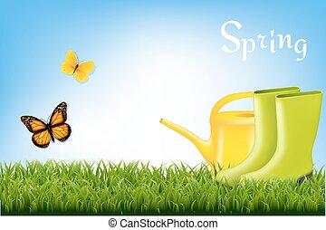 весна, баннер