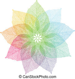 весна, вектор, красочный, leaves