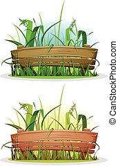 весна, дерево, трава, забор, лезвия