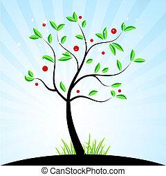 весна, дизайн, ваш, дерево