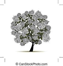 весна, дизайн, цветы, дерево, ваш