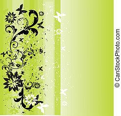 весна, задний план, зеленый