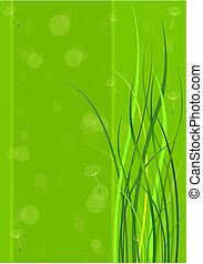 весна, зеленый, задний план