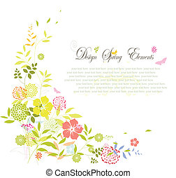 весна, цветок, задний план