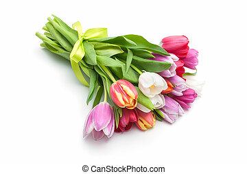 весна, цветы, букет цветов, tulips