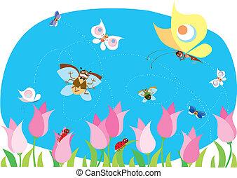 весна, bugs