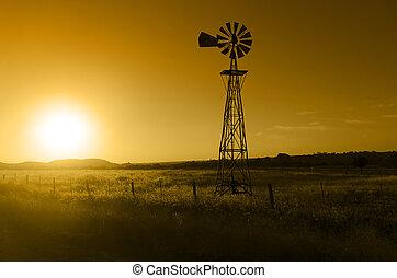 ветряная мельница, ранчо