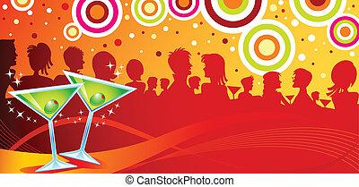 вечеринка, мартини