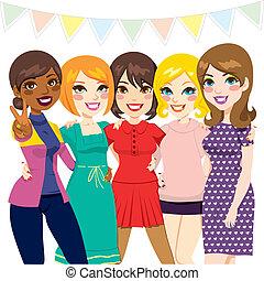 вечеринка, friends, женщины