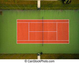 видел, большой теннис, суд, воздух