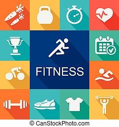 виды спорта, icons, задний план, фитнес, style., квартира