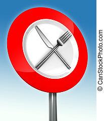 вилка, металл, диета, знак, нож, дорога
