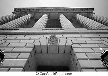 внушительный, здание, вашингтон, округ колумбия, правительство
