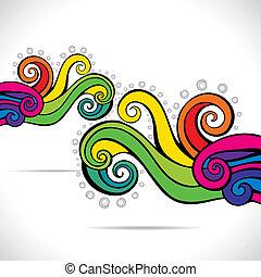 водоворот, красочный, задний план, абстрактные