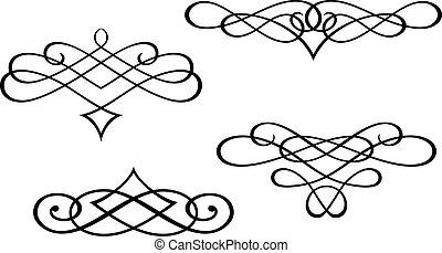 водоворот, monograms, elements