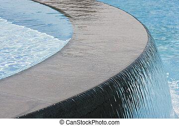 водопад, бассейн, плавание