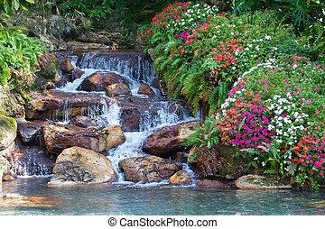 водопад, hdr, пейзаж