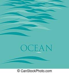 воды, абстрактные, вектор, задний план, иллюстрация