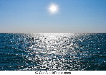 воды, все еще, спокойный, море, поверхность