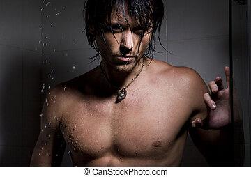 воды, портрет, человек, очарование, jets