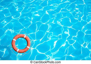воды, синий, спасательный круг, поверхность, концепция