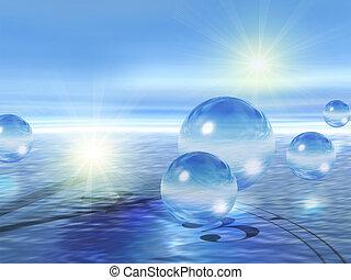 воды, стакан, spheres, &