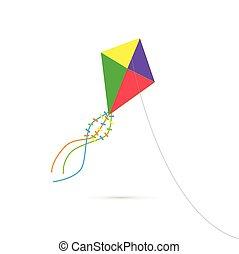 воздушный змей, иллюстрация