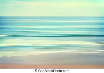 волна, морской пейзаж, длинный