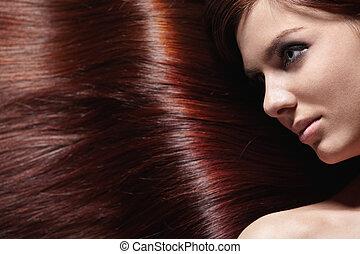 волосы, блестящий