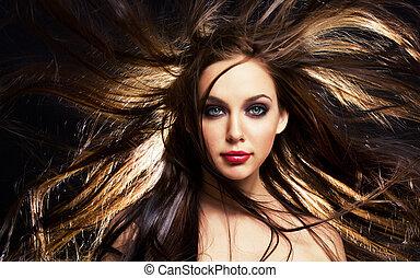волосы, движение