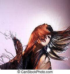 волосы, длинный