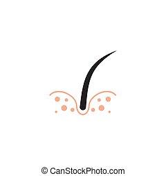 волосы, значок, шаблон, логотип, дизайн, лечение
