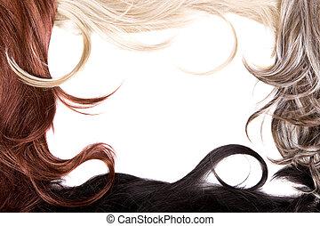 волосы, текстура