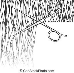 волосы, scissors, порез