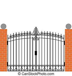 ворота, железо