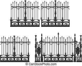 ворота, забор