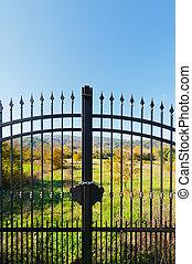 ворота, металл