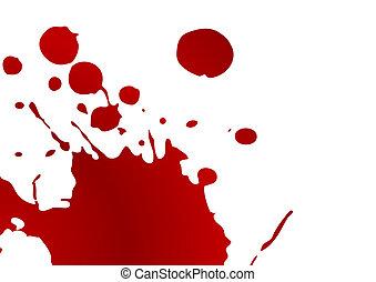 восклицательный знак, кровь