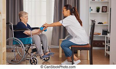 восстановление, медсестра, помощь
