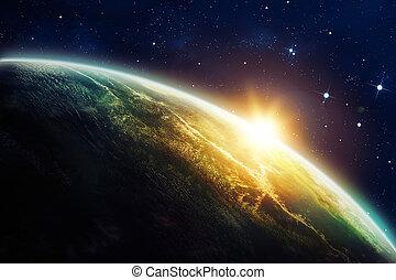 восход, пространство