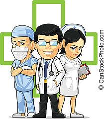 врач, врач хирург, медсестра, &