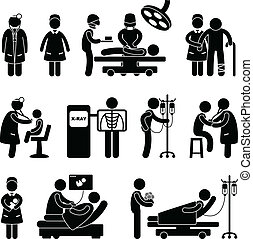 врач, хирургия, медсестра, больница
