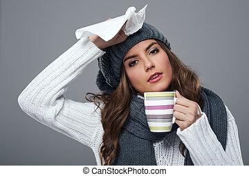 время года, холодно, грипп