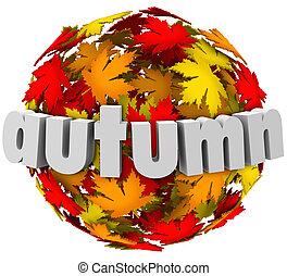 время года, leaves, autum, сфера, colors, изменения, изменение