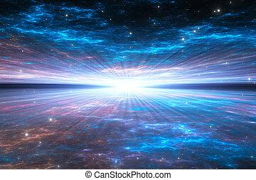 время, деформироваться, путешествие, space.