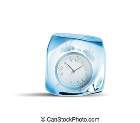 время, замерзать, концепция