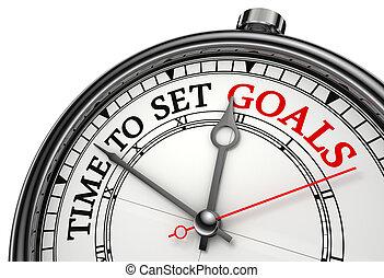 время, концепция, задавать, goals, часы