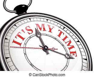 время, мой, часы, это, концепция