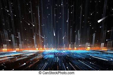 время, путешествие, space., деформироваться