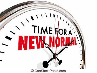 время, руки, тиканье, новый, часы, иллюстрация, нормальный, изменение, 3d